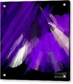 Tutu Stage Left Abstract Purple Acrylic Print by Andee Design