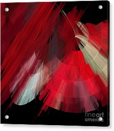 Tutu Stage Left Red Abstract Acrylic Print by Andee Design