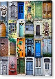 Twenty Four French Doors Collage Acrylic Print by Georgia Fowler