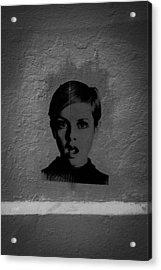 Twiggy Street Art Acrylic Print by Louis Maistros