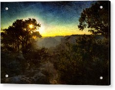 Twilight At The Canyon Acrylic Print by Ellen Heaverlo