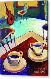 Twilight Coffee Cafe Acrylic Print by Frederick  Luff