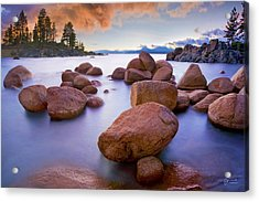 Twilight Cove - Craigbill.com - Open Edition Acrylic Print by Craig Bill