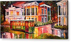 Twilight In The Garden District Acrylic Print by Diane Millsap
