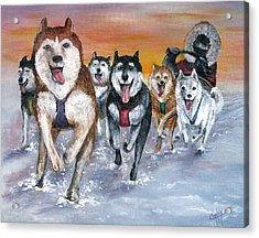 Twilight On The Trail Acrylic Print by Karen Copley