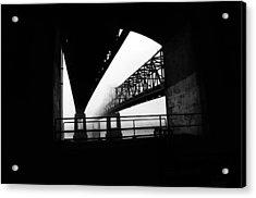 Twin Bridges Acrylic Print by Leon Hollins III