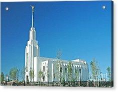 Twin Falls Idaho Lds Temple Acrylic Print by Nick  Boren