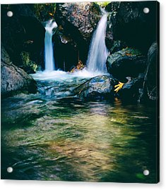 Twin Waterfall Acrylic Print by Stelios Kleanthous