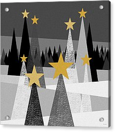 Twinkle Lights Acrylic Print by Val Arie