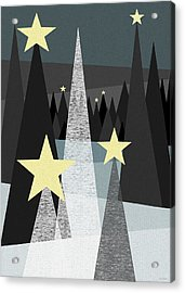 Twinkle Acrylic Print by Val Arie