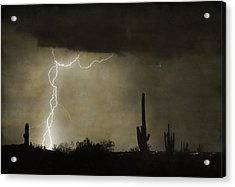 Twisted Desert Lightning Storm Acrylic Print by James BO  Insogna