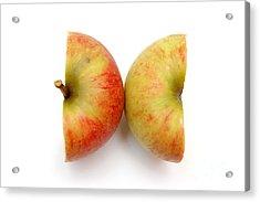 Two Apple Halves Acrylic Print by Michal Bednarek