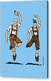 Two Bavarian Lederhosen Men Acrylic Print by Frank Ramspott