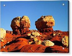 Two Big Rocks At Capital Reef Acrylic Print by Jeff Swan