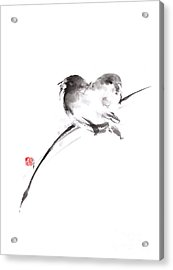 Two Birds Minimalism Artwork. Acrylic Print by Mariusz Szmerdt