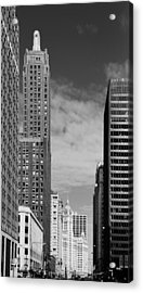 Two Chicago Classics- Carbide And Carbon And Wrigley Building Acrylic Print by Christine Till