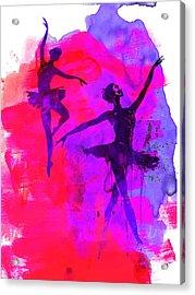 Two Dancing Ballerinas 3 Acrylic Print by Naxart Studio
