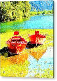 Two Dorys Acrylic Print by Jodie  Scheller