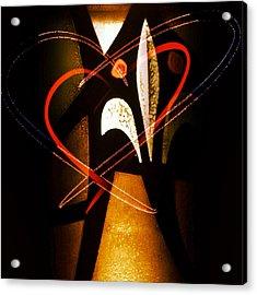 Two Hearts Acrylic Print by Patricia Januszkiewicz