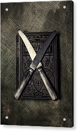 Two Knives And A Book Acrylic Print by Joana Kruse