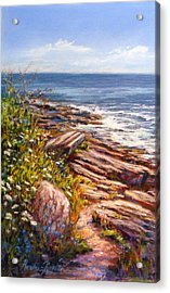 Two Lights State Park Acrylic Print by Denise Horne-Kaplan