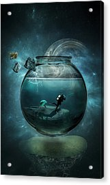 Two Lost Souls Acrylic Print by Erik Brede