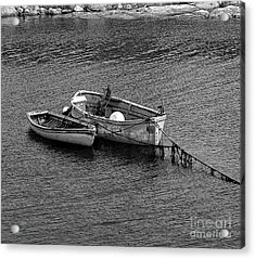 Two Old Rowboats Acrylic Print by Kathleen Struckle