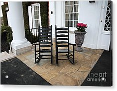 Two On The Porch Acrylic Print by John Rizzuto