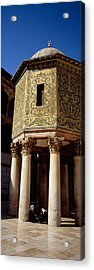 Two People Sitting In A Mosque, Umayyad Acrylic Print by Panoramic Images