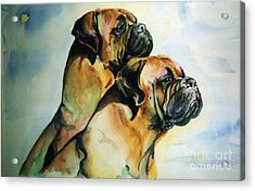 Two Sisters Acrylic Print by Adele Pfenninger