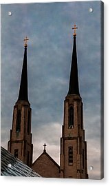 Two Steeples Three Crosses Acrylic Print by Gene Sherrill