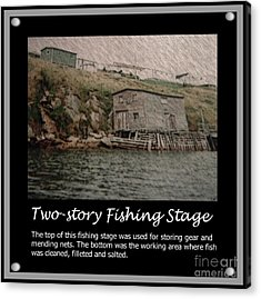 Two-story Fishing Stage Acrylic Print by Barbara Griffin