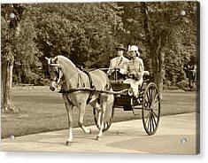 Two Wheel Cart Acrylic Print by Wayne Sheeler