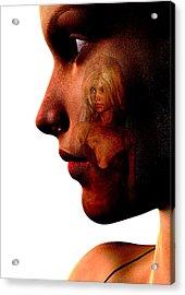 Two Women Acrylic Print by David Ridley
