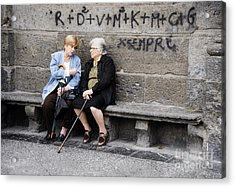 Two Women In Naples Acrylic Print by Jim  Calarese