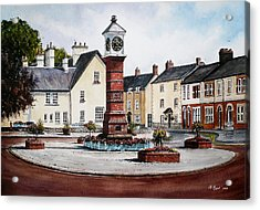 Twyn Square Usk Wales Acrylic Print by Andrew Read