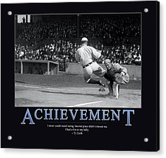 Ty Cobb Achievement  Acrylic Print by Retro Images Archive