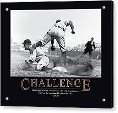 Ty Cobb Challenge  Acrylic Print by Retro Images Archive