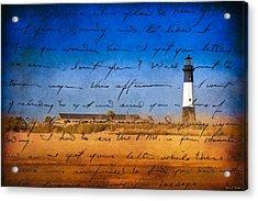 Tybee Island Lighthouse - A Sentimental Journey Acrylic Print by Mark E Tisdale