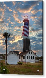 Tybee Lighthouse Acrylic Print by Peter Tellone