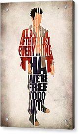Tyler Durden Acrylic Print by Ayse Deniz