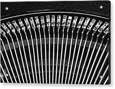 Typewriter Keys IIi Acrylic Print by Tom Mc Nemar
