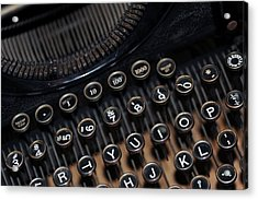 Typewriter Remembered Acrylic Print by Harold E McCray