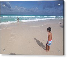 Typhoon In Boracay Acrylic Print by Timothy Lowry