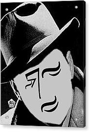 Typortraiture Humphrey Bogart Acrylic Print by Seth Weaver