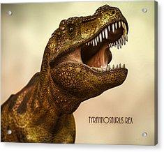 Tyrannosaurus Rex 3 Acrylic Print by Bob Orsillo