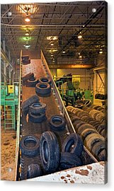 Tyre Recycling Facility Acrylic Print by Jim West