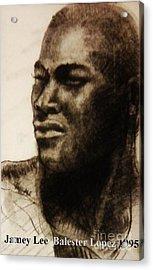 Tyson Beckford Portrait Acrylic Print by Jamey Balester