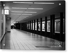 u-bahn platform and station Berlin Germany Acrylic Print by Joe Fox