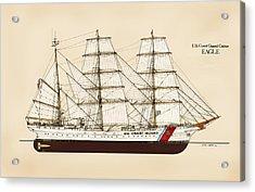U. S. Coast Guard Cutter Eagle - Color Acrylic Print by Jerry McElroy - Public Domain Image